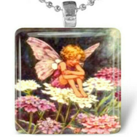 Jewelry - Necklace- NEW- Angel Fairy With Butterfly Wings